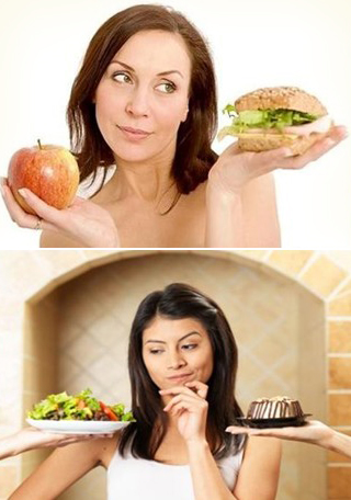 People living healthy and choosing healthy food
