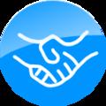 Blue Handshake