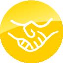 Yellow Handshake